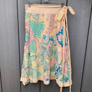Sweet by Miss Me Skirts - Sweet by Miss Me Floral Cotton Wrap Skirt